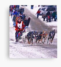 109 mile challenge..........happy feet! Canvas Print