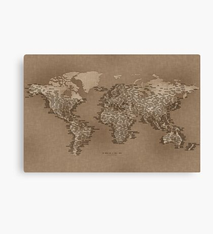 The World Map of Small Towns Canvas Print
