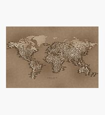 The World Map of Small Towns Photographic Print