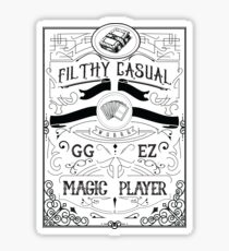 Filthy Casual Magic Player (Black Text) Sticker