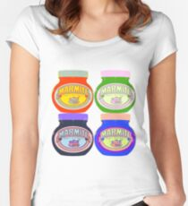 Marmite pop art Women's Fitted Scoop T-Shirt