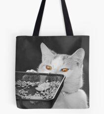 Bird Table Thief Tote Bag