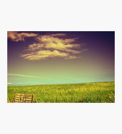 Tranquility in cloud and green slope Photographic Print