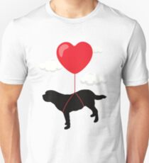 Saint Bernard Valentine's Day T Shirt Gift for Dog Owner Unisex T-Shirt