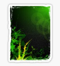 Abstract Digital Green Leaves Background Sticker