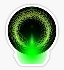 Abstract Digital Background Sticker