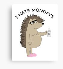 I Hate Mondays Hog Canvas Print