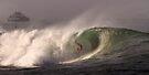 Surfer at Ala Moana Bowls .4 by Alex Preiss