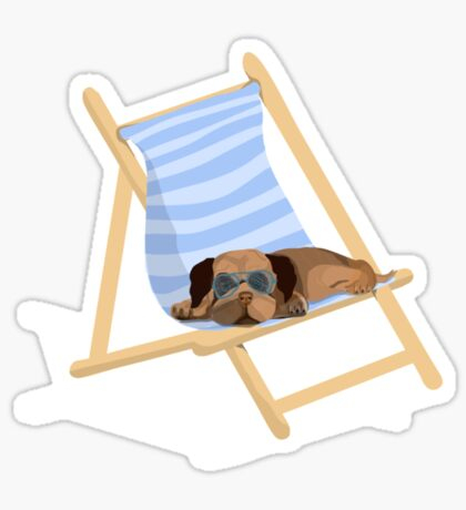 Sunbathing Pug Sticker