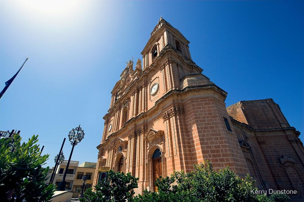 Mellieha Parish Church, Malta by Kerry Dunstone