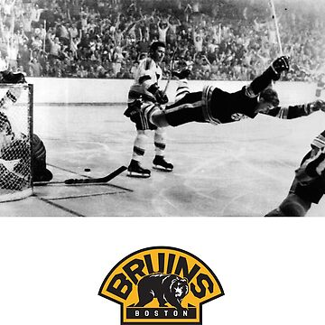 Bobby Orr - Flying Goal - Boston Bruins by OneTonSoup