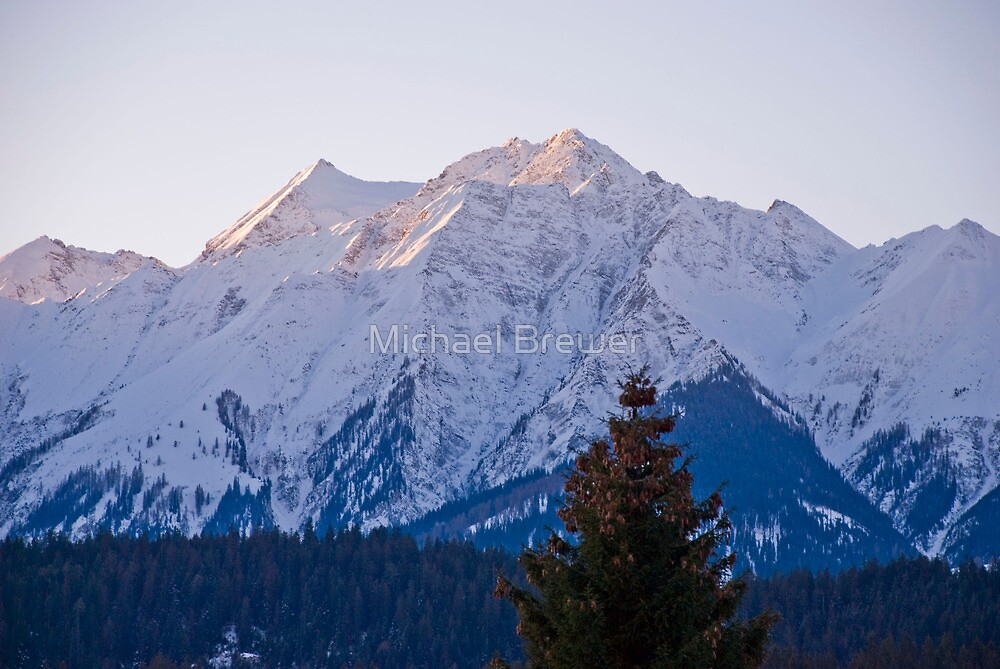 Sunrise on the mountains in Flims, Switzerland by Michael Brewer