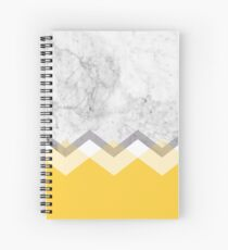 Mustard and Marble Graphic  Spiral Notebook