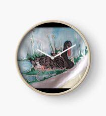 Black Swan mit Cygnets Uhr