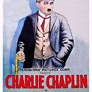 Vintage Hollywood Nostalgia Caught in a Cabaret Charlie Chaplin Film Movie Advertisement Poster by jnniepce