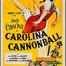 Vintage Hollywood Nostalgia Carolina Cannonball Film Movie Advertisement Poster by jnniepce