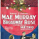 Vintage Hollywood Nostalgia Broadway Rose Film Movie Advertisement Poster by jnniepce