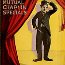 Vintage Hollywood Nostalgia Mutual Charlie Chaplin Specials Film Movie Advertisement Poster by jnniepce