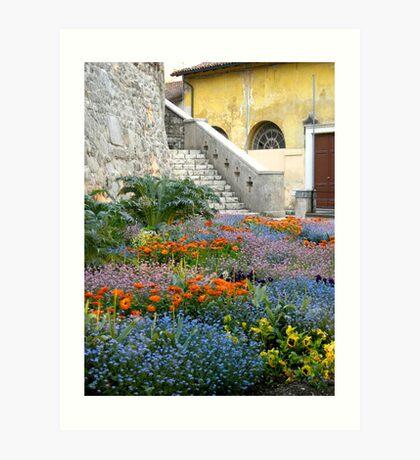 A flowered corner Art Print