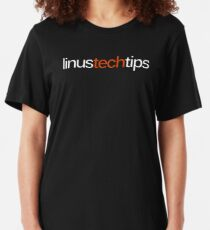Linus Tech Tips Logo Slim Fit T-Shirt