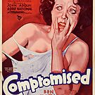 Vintage Hollywood Nostalgia Compromised Film Movie Advertisement Poster by jnniepce