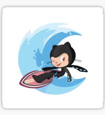 Surftocat - GitHub Octocat Sticker
