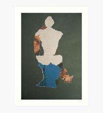 Sitting modell Art Print