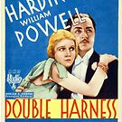 Vintage Hollywood Nostalgia Double Harness Film Movie Advertisement Poster by jnniepce
