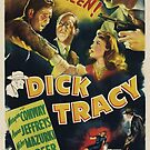 Vintage Hollywood Nostalgia Dick Tracy Film Movie Advertisement Poster by jnniepce