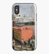 Unloading bananas from steamer, New Orleans ca 1900 iPhone Case
