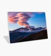 Fire on the Mountain - Sunrise Illuminates Cloud Over Longs Peak in Colorado Laptop Skin
