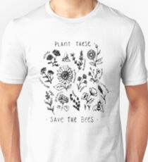 Plant These Save The Bees Shirt Flowers T Shirt Unisex T-Shirt