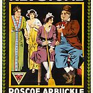 Vintage Hollywood Nostalgia Fickle Fattys Fall Film Movie Advertisement Poster by jnniepce