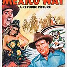 Vintage Hollywood Nostalgia Down Mexico Way Gene Autry Film Movie Advertisement Poster by jnniepce
