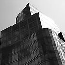 Black and White Architectural view of Astor Place  by Gerald Holubowicz