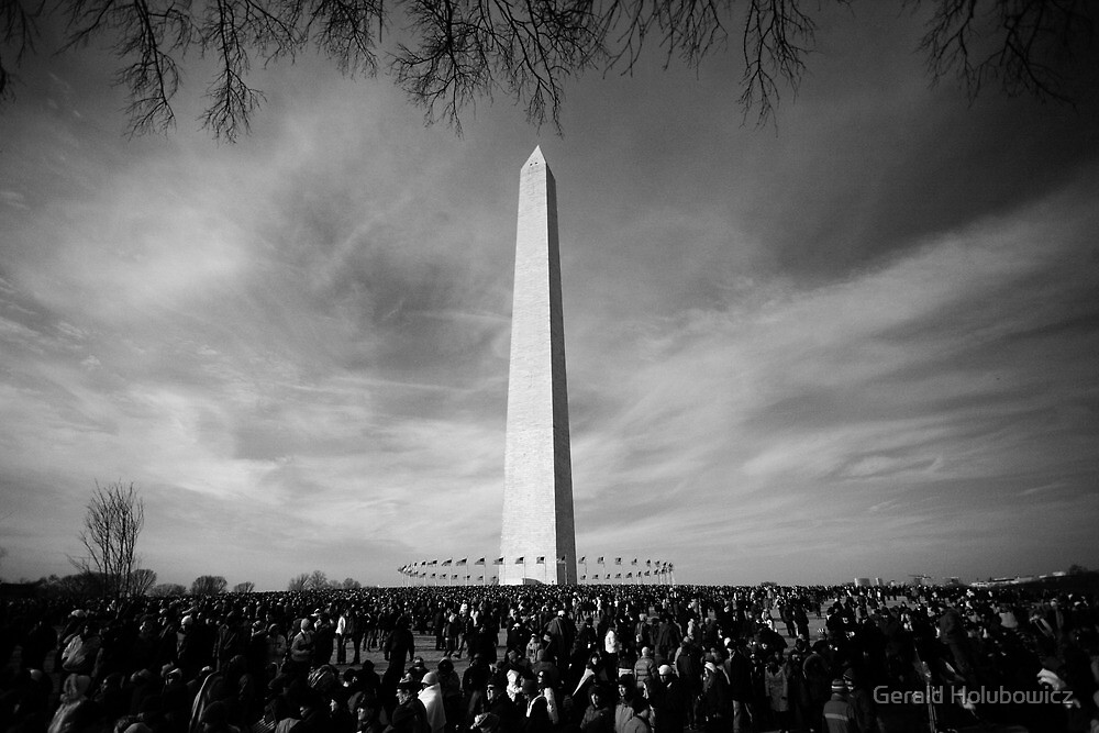 Black and White of The Washington Monument  by Gerald Holubowicz