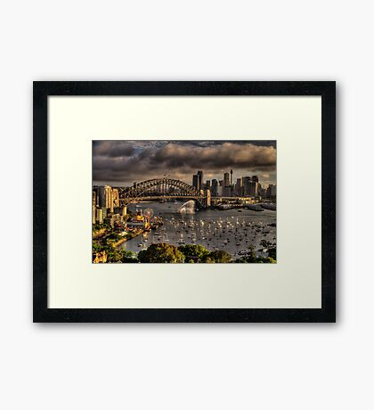 Celebration - Sydney Harbour New Years Eve - The HDR Experience Framed Print