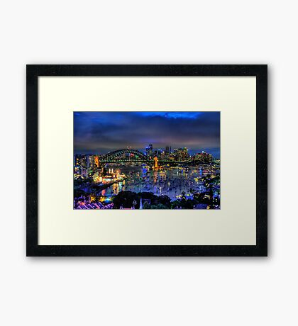 Illumination - Sydney Harbour, Australia - The HDR Experience Framed Print