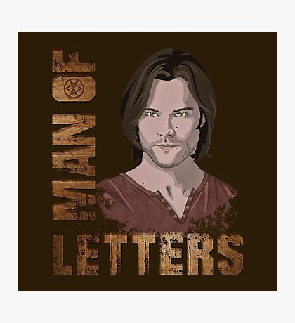 Man of Letters Sam Winchester Photographic Print