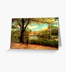 George In the Park Greeting Card