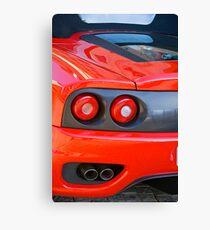 Ferrari 360 F1 Spider Tail Lights & Exhaust Canvas Print