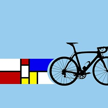 Bike Stripes Mondrian von sher00