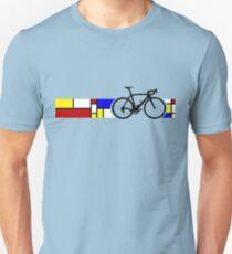 Bike Stripes Mondrian Unisex T-Shirt