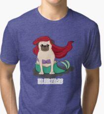 The Little Mer-Pug Tri-blend T-Shirt