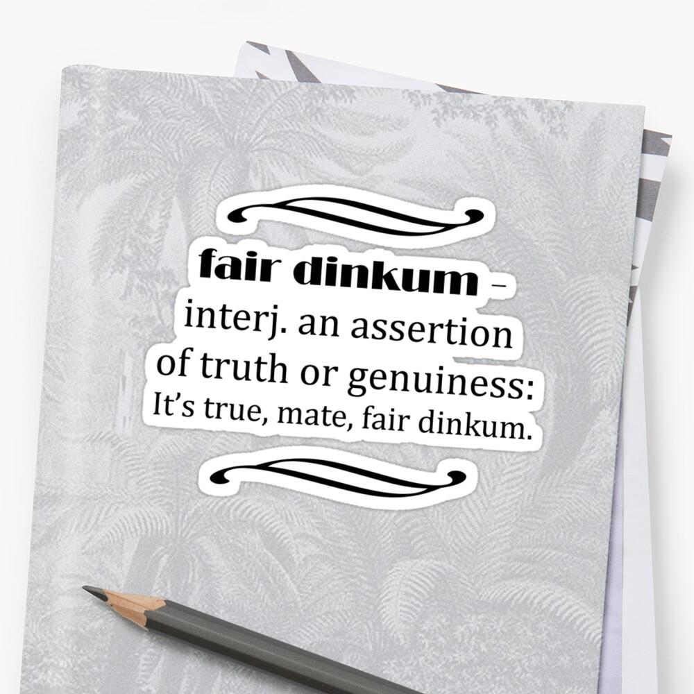 Fair Dinkum by Matthew Walmsley-Sims