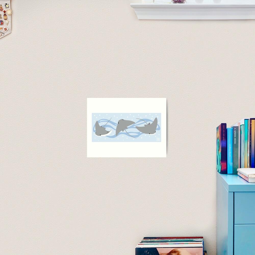 Stingrays - Cownose Ray - Sticker Pack Art Print