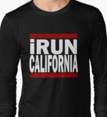 Funny I Run California Running Shirt Long Sleeve T-Shirt