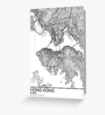 Hong Kong map poster print wall art, China gift printable, Home and Nursery, Modern map decor for office, Map Art, Map Gifts Greeting Card