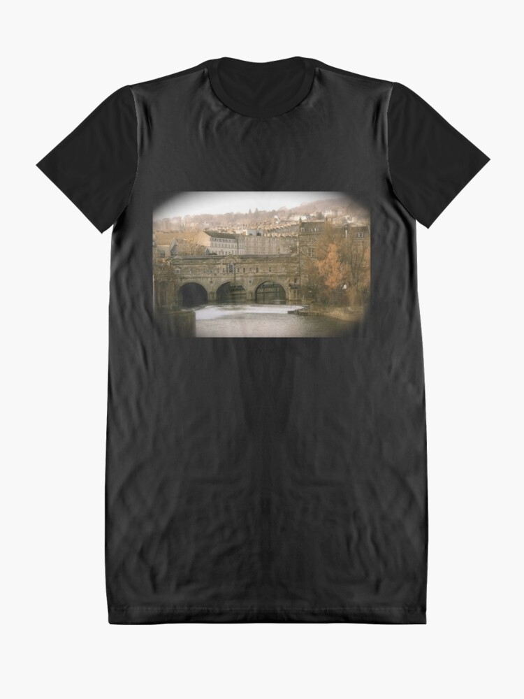 Alternate view of Pulteney Bridge crossing the river Avon in Bath, Somerset County, England Graphic T-Shirt Dress
