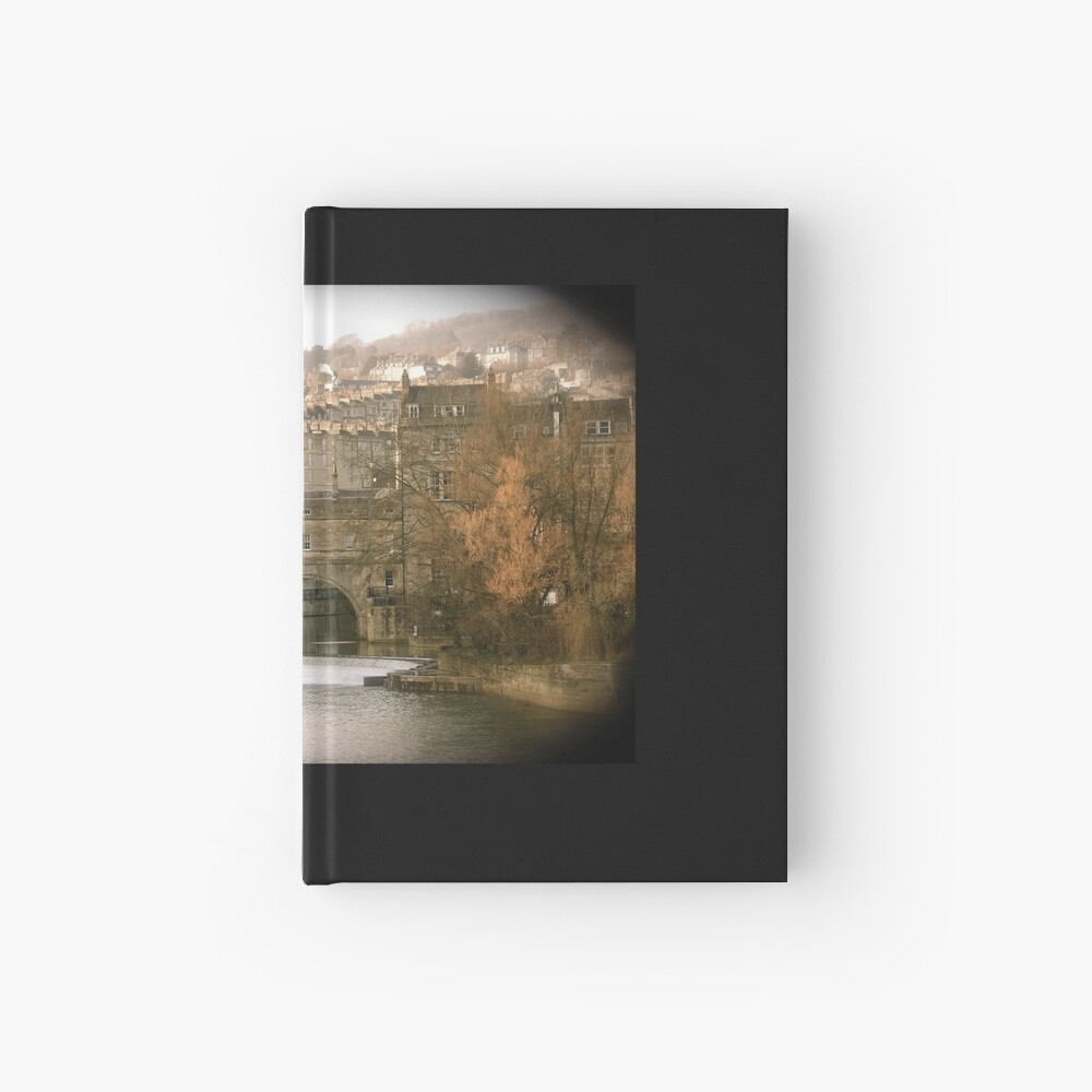 Pulteney Bridge crossing the river Avon in Bath, Somerset County, England Hardcover Journal